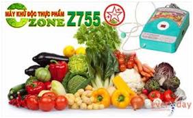 Máy ozone Z755 tạo khí khử chất độc dư thừa trong thực phẩm