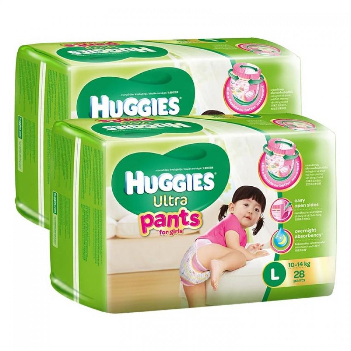 Tã quần Huggies Ultra Pants L28 girl loại 1