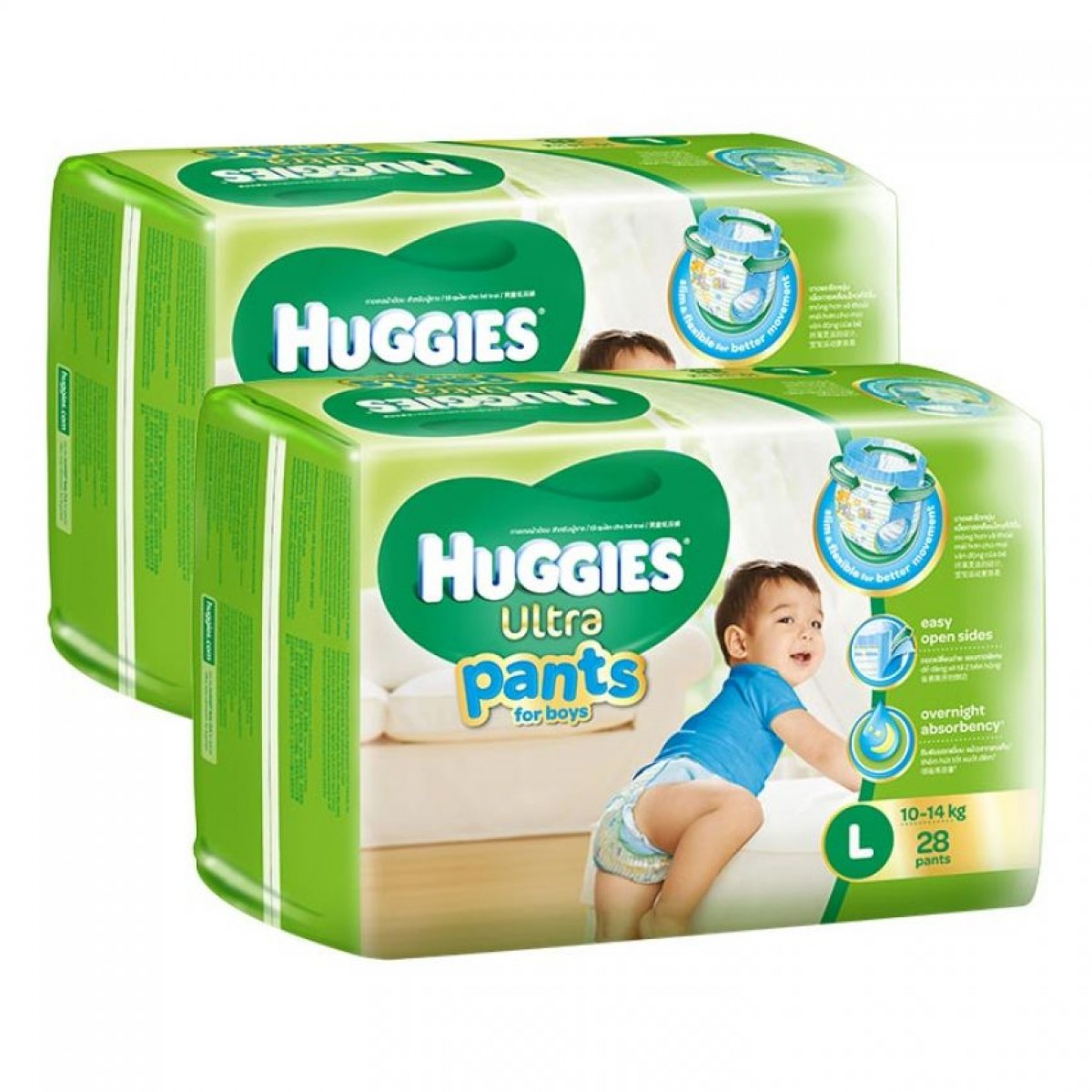 Tã quần Huggies Ultra Pants L28 boy