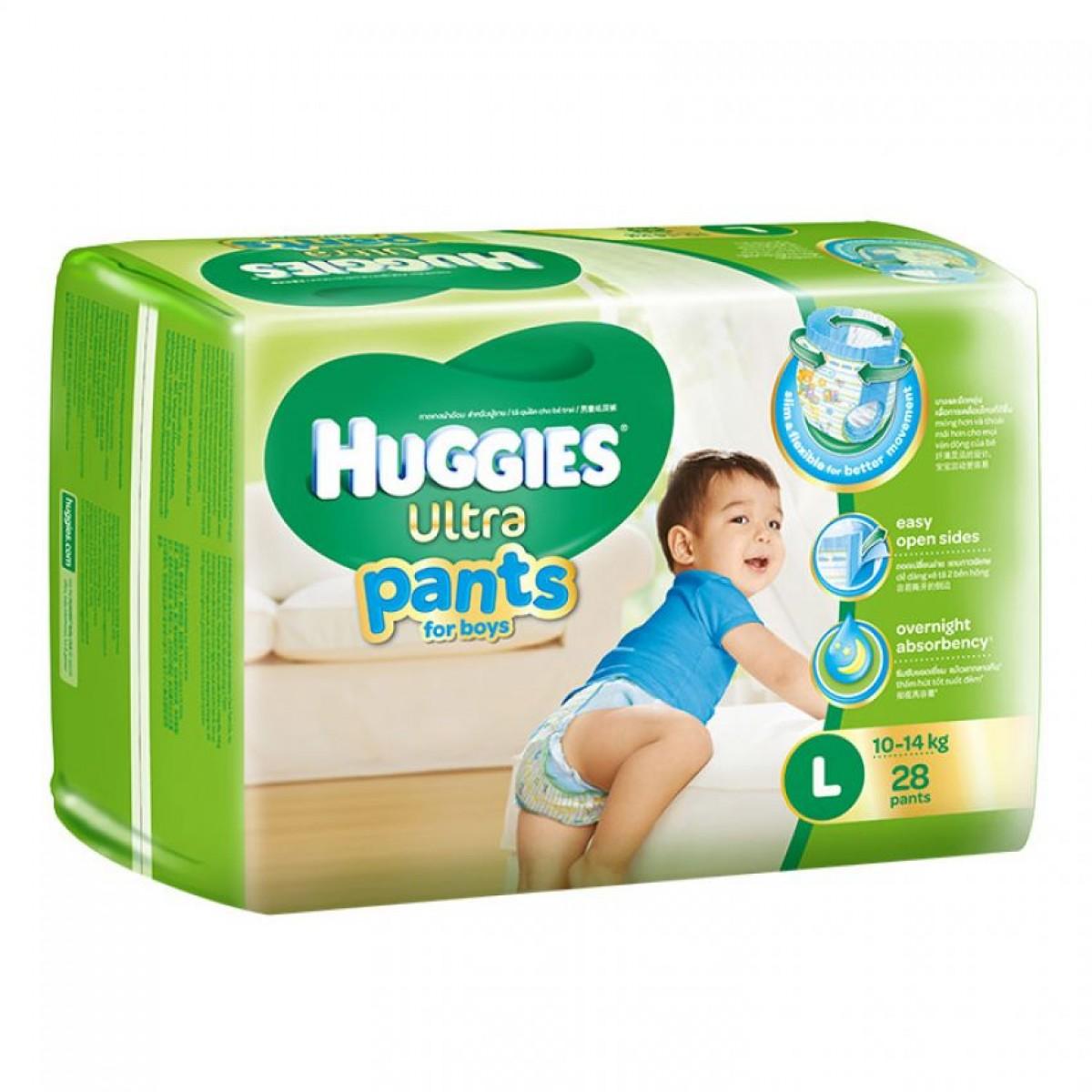 Tã quần Huggies Ultra Pants L28 boy mới