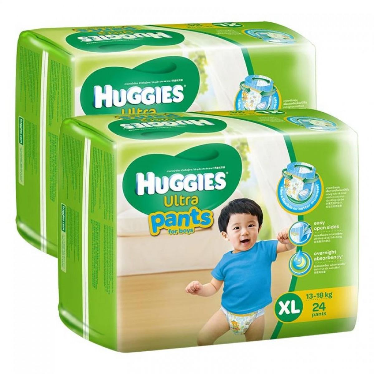 Tã quần Huggies Ultra Pants XL24 boy giá rẻ