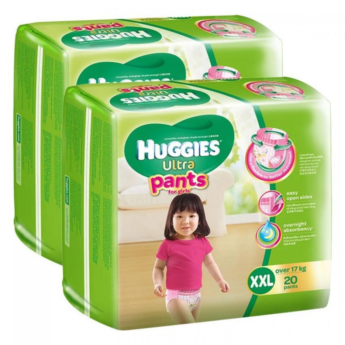 Tã quần Huggies Ultra Pants XXL20 girl
