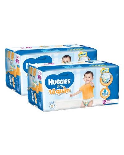 Tã quần Huggies XL34 - bộ 2 gói chất lượng