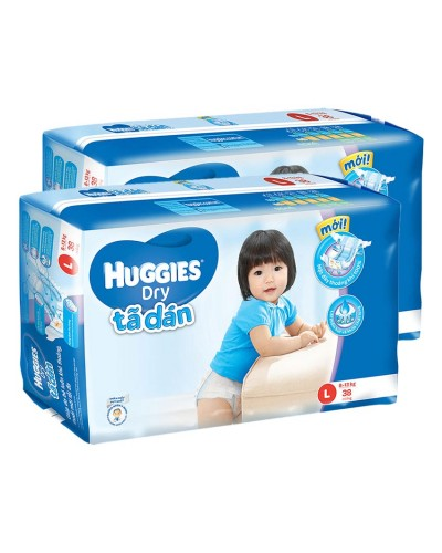 Tã dán Huggies L38 - bộ 2 gói chất lượng