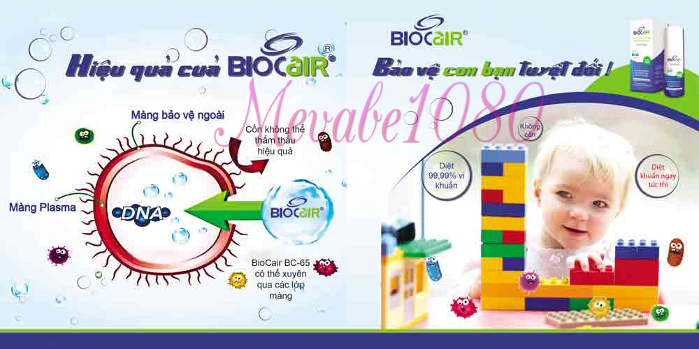 Hiệu quả tiệt trùng của Biocair