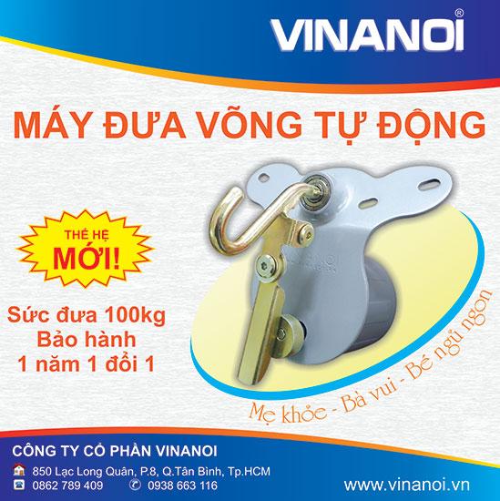 Máy đưa võng người lớn Vinanoi VN365N, máy đưa võng tự động Vinanoi