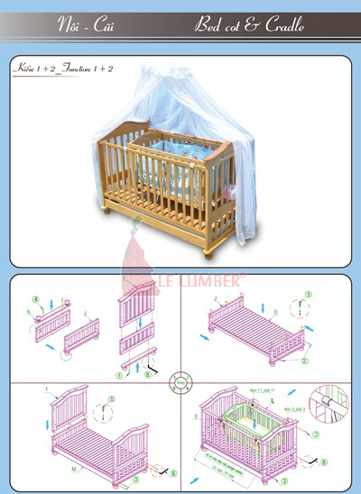 9 kiểu lắp ráp giường cũi nobita