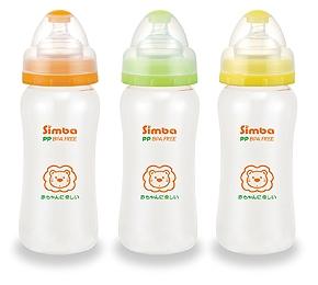 Bình sữa cổ rộng nhựa PP 330ml Simba S6273
