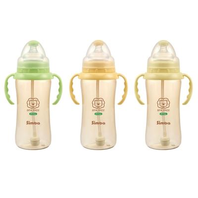 Bình sữa cổ rộng tay cầm nhựa PPSU 360ml Simba S6183