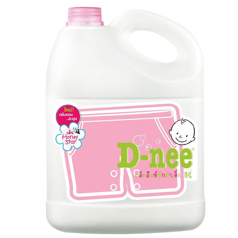 Dung dịch giặt xả Dnee 3000ml mầu hồng