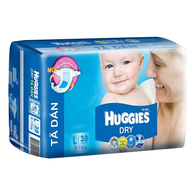 Ta dan Huggies Dry L