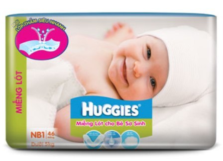 Mieng lot so sinh Huggies Newborn 1
