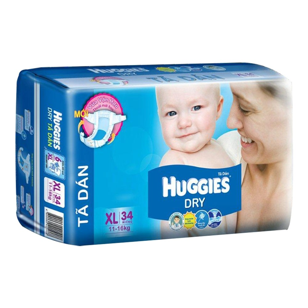 Ta dan Huggies Dry XL