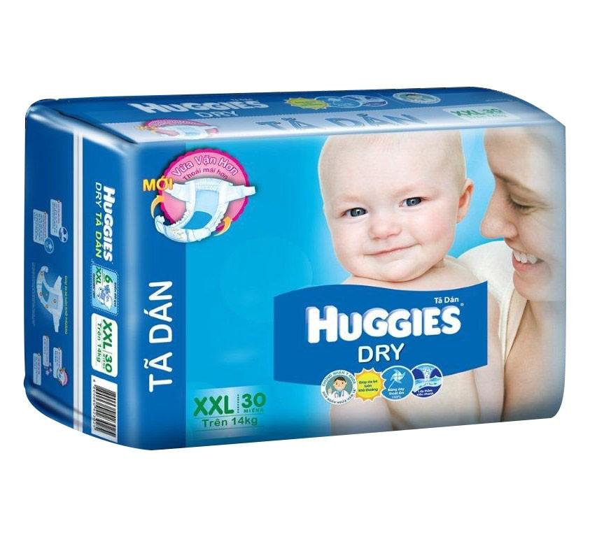 Ta dan Huggies Dry XXL