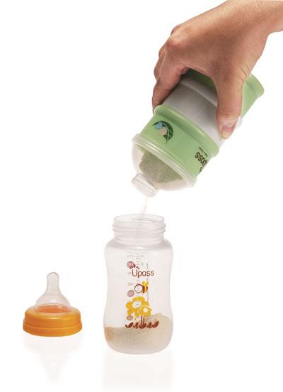 Hộp đựng sữa bột 3 ngăn không BPA Upass (Đài Loan)