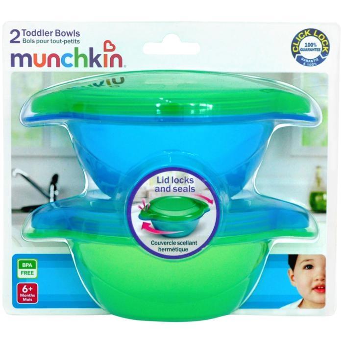 Bát ăn có nắp (2c) 2pk Click Lock Toodler Bowl