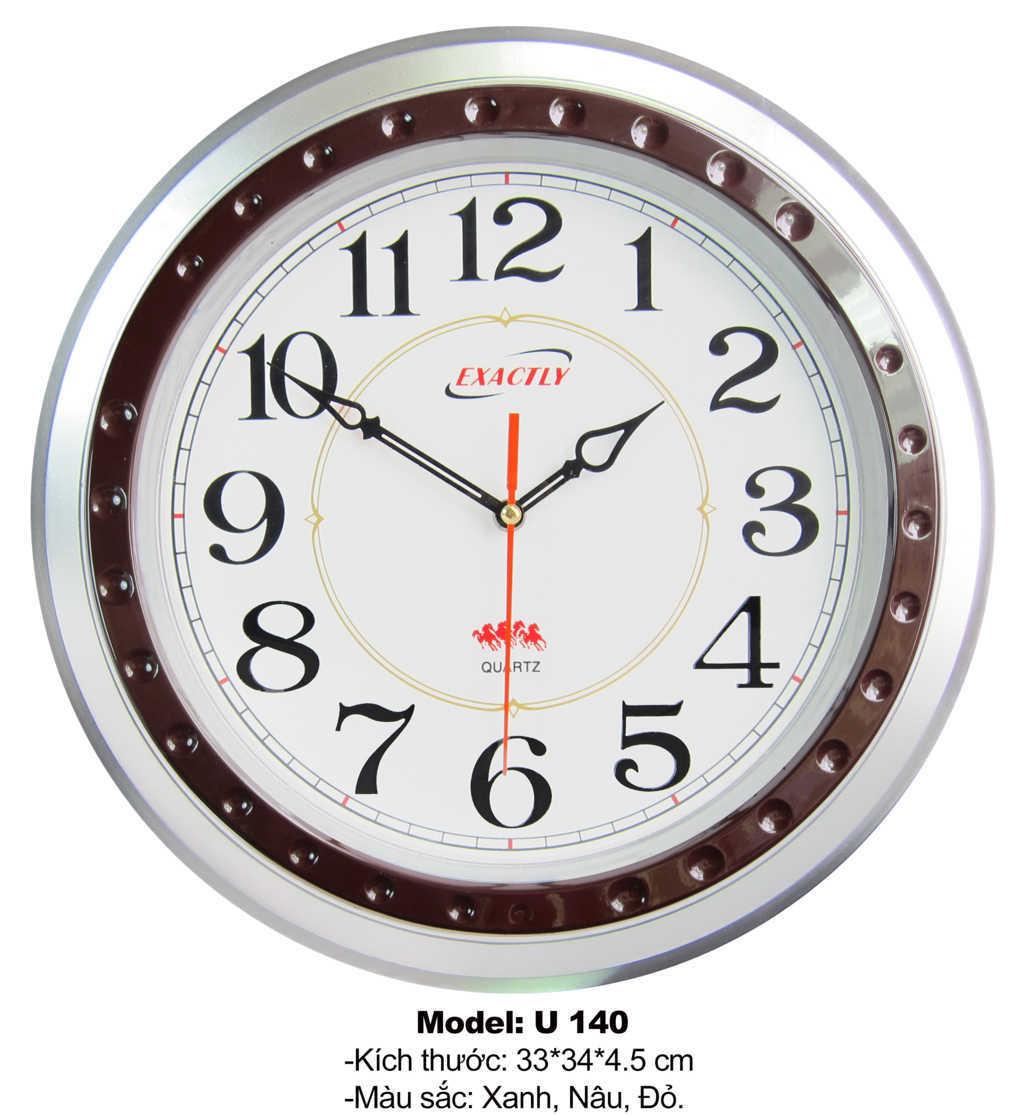 đồng hồ treo tường U140 | dong ho treo tuong U140