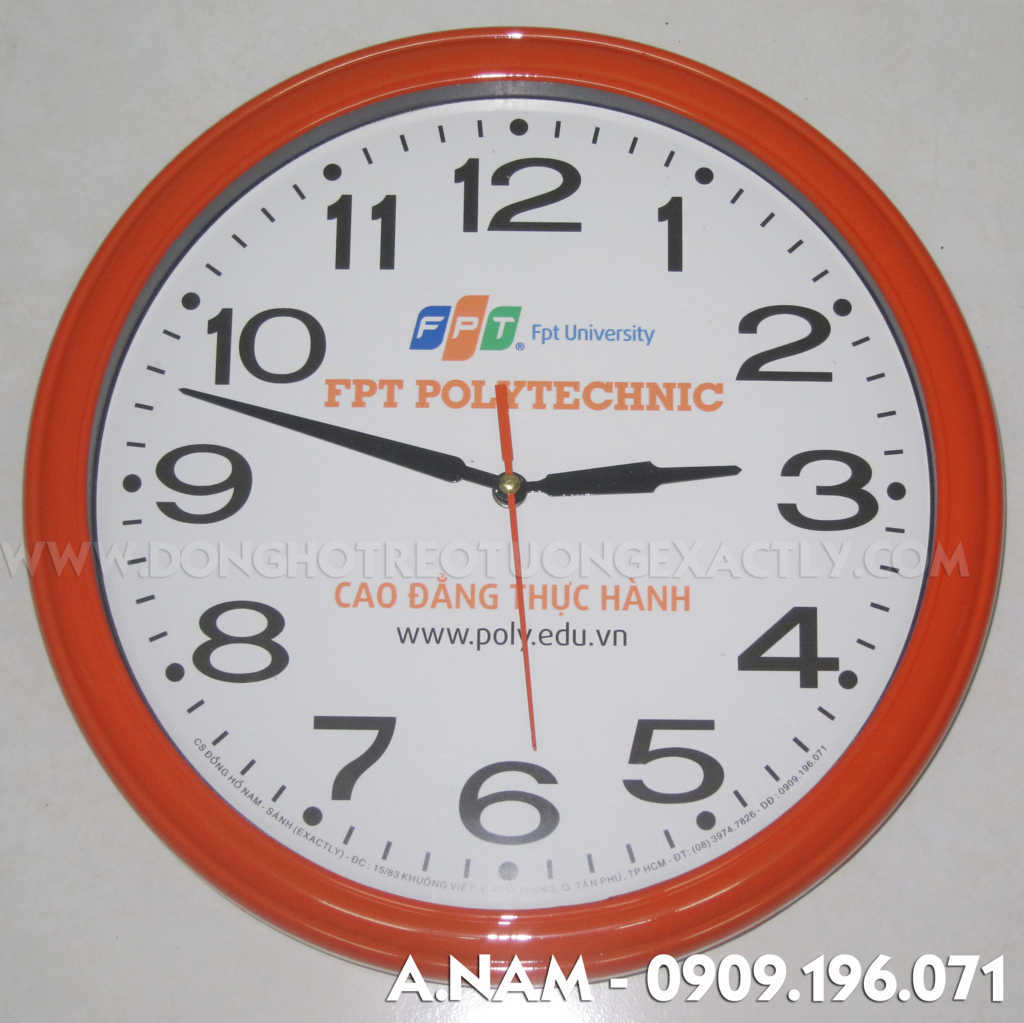 đồng hồ treo tường quà tặn FPT