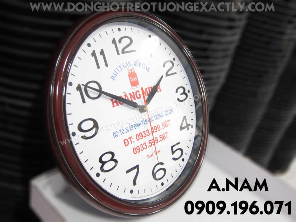 đồng hồ treo tường đẹp làm quà tặng đại lý gas