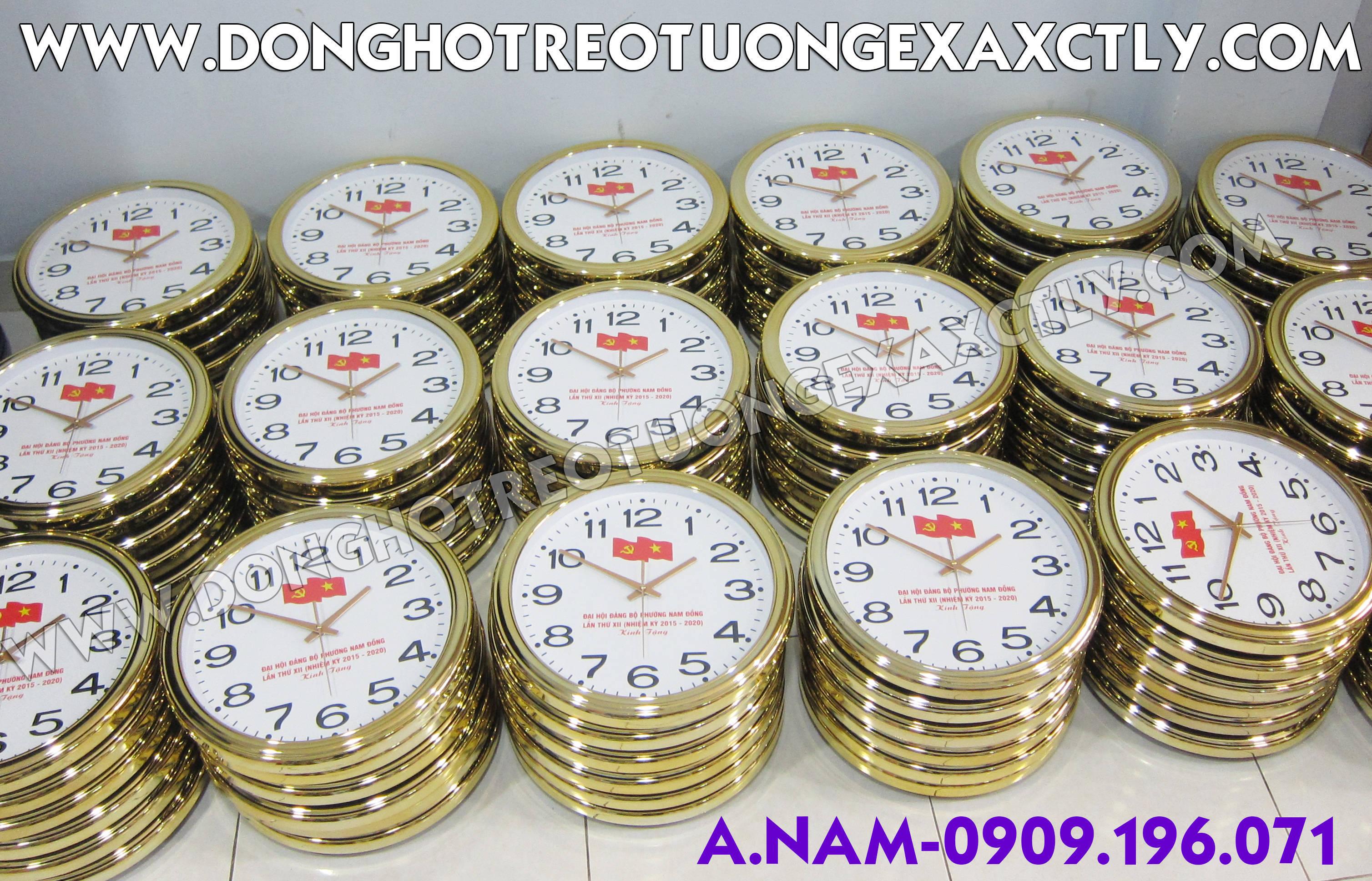 đồng hồ treo tường đại hội đảng phường nam đồng