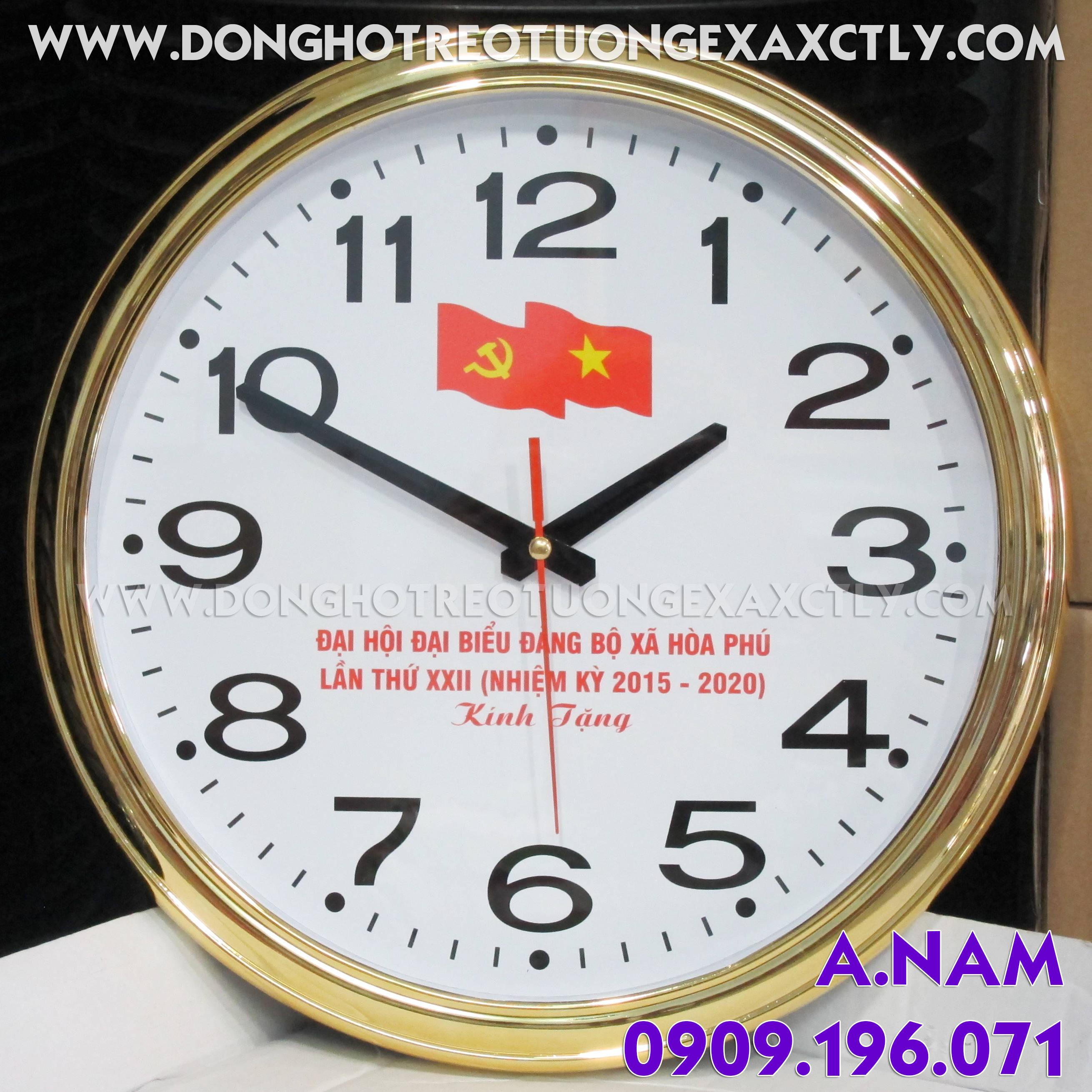 đồng hồ treo tường Đại hội đảng Xã Hòa Phú