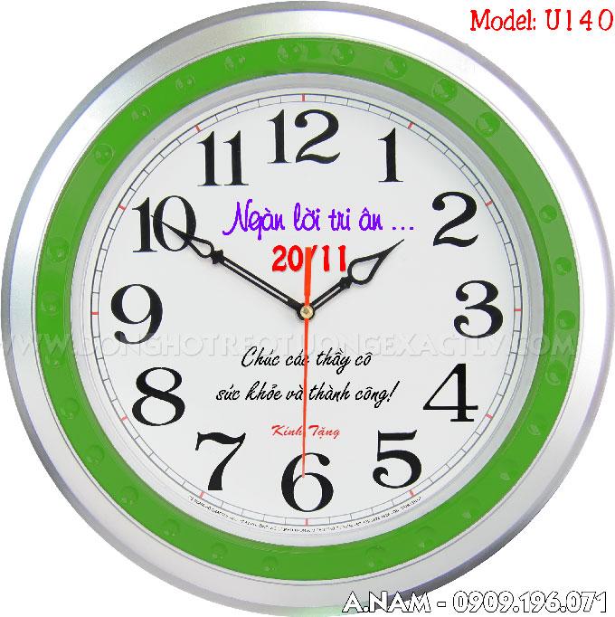 đồng hồ treo tường quà tặng 20/11 | dong ho treo tuong qua tang 20/11