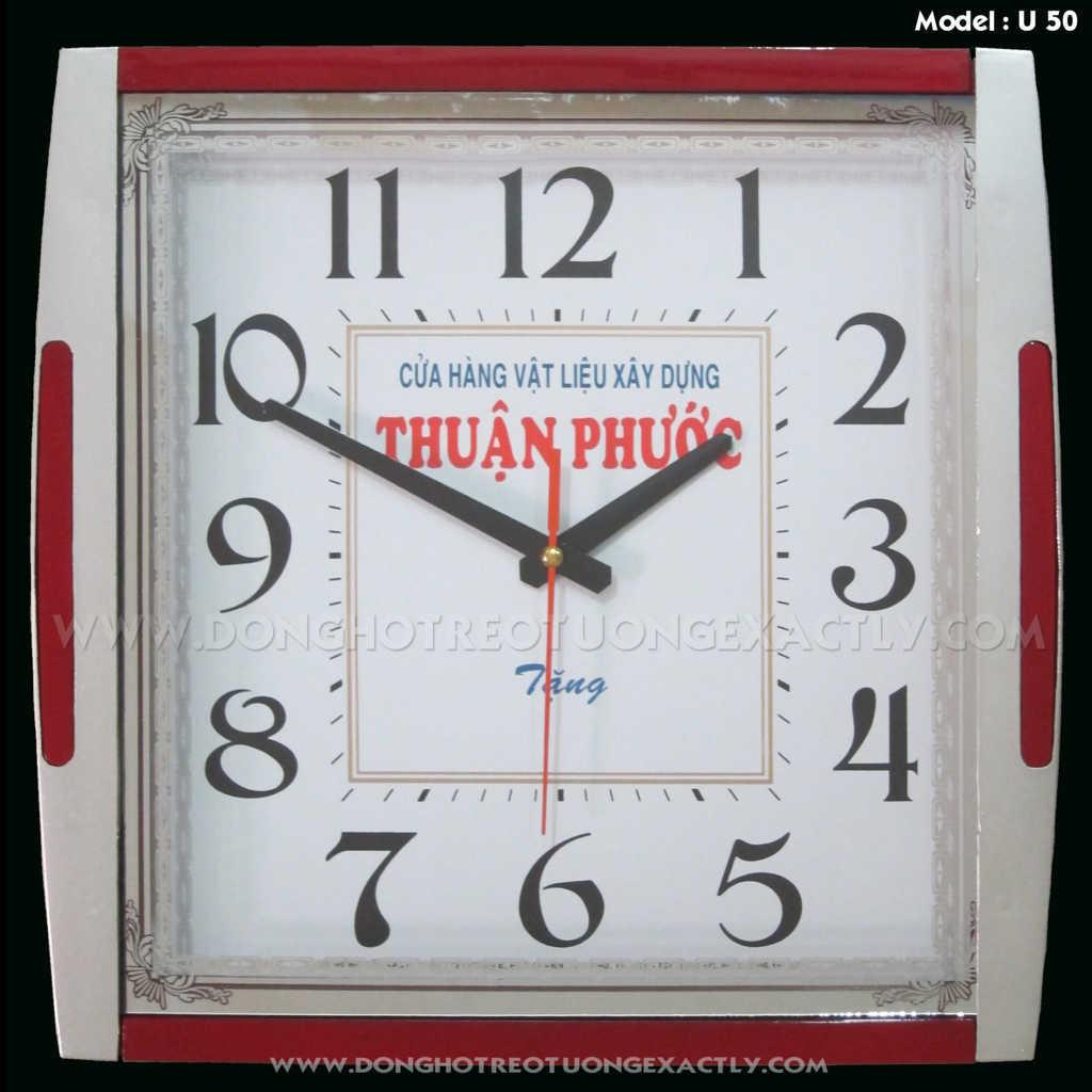 đồng hồ treo tường công ty vật liệu xây dựng tặng khách hàng