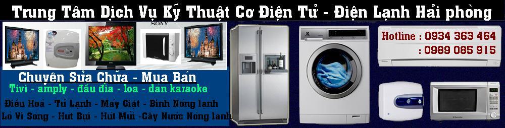 sửa chữa tủ lạnh máy giặt điều hòa bình nóng lạnh tại hải phòng