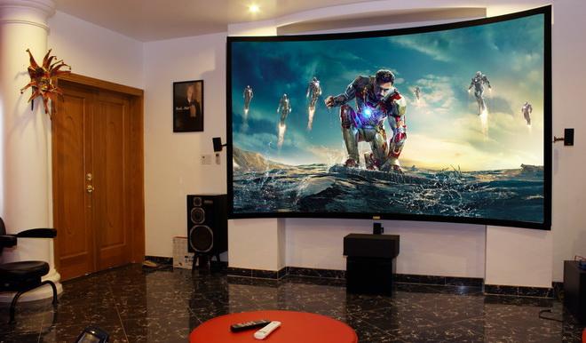 phòng chiếu phim gia đình