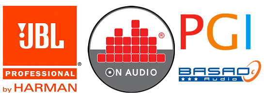 Logo JBL, Logo On Audio, Logo Basao, Logo PGI
