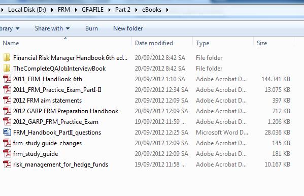 Tài liệu FRM 2012