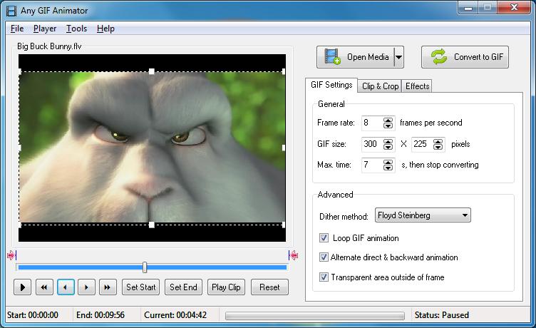 Phần mềm tạo ảnh động - Any GIF Animator