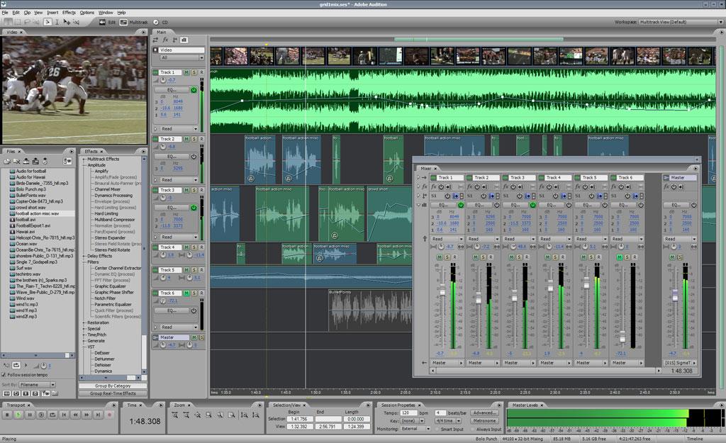 Phần mềm thu âm cho máy tính - Download Adobe Audition 3.0 Full Crack
