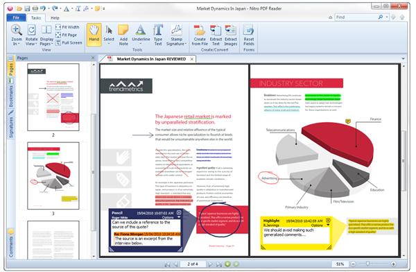 Phần mềm đọc và chỉnh sửa file PDF - Nitro Reader full mới nhất