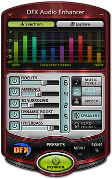 Phần mềm hỗ trợ nghe nhạc - DFX Audio Enhancer 11.112 2013