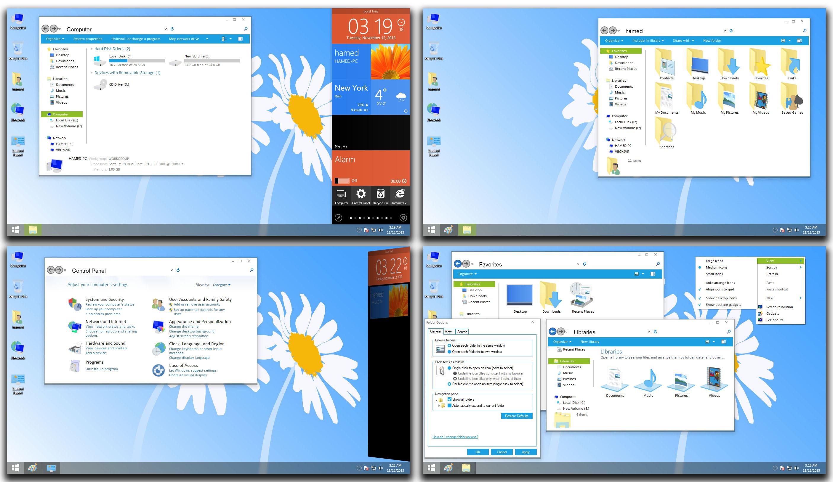 Giao diện windows 9 mới nhất - cực hot cho win 8