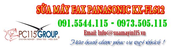 sua chua may fax panasonic KX-FL612 tại nhà