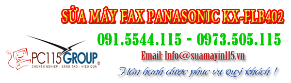 Sua may fax panasonic KX-FLB402