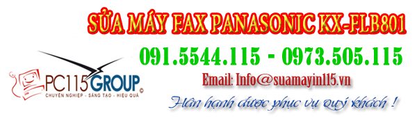 Sua chua may fax Panasonic KX-FLB801