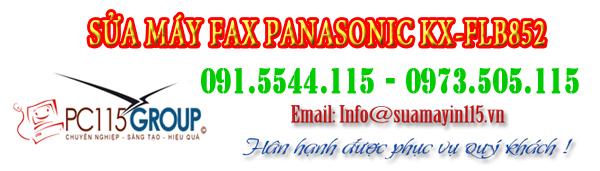sua chua may fax panasonic KX-FLB852