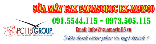 Sua chua may fax Panasonic KX-MB1900