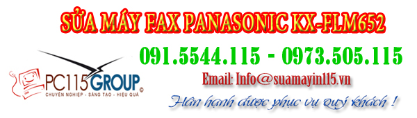 Sua may fax Panasonic KX-FLM652