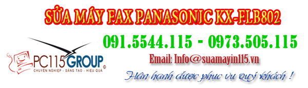sua chua may fax panasonic KX-FLB802