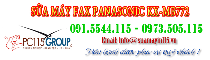Sua may fax Panasonic kx-mb772 tai nha ha noi