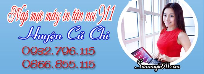 Nạp mực máy in tại huyện Củ Chi