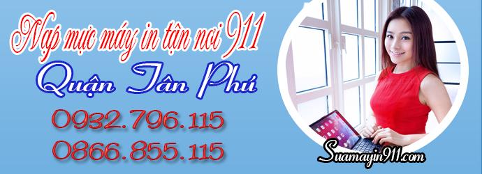 Nạp mực máy in tại quận Tân Phú