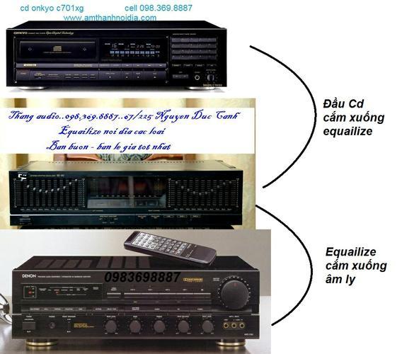 Ghép nối âm ly với equailize và đầu CD