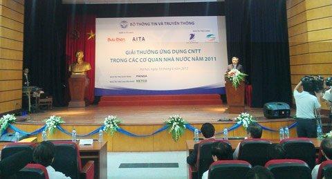 Trao giải thưởng Ứng dụng CNTT trong Cơ quan Nhà nước