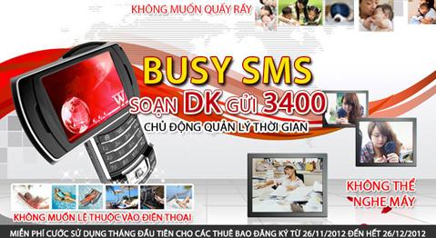 Busy SMS Miễn phí đăng ký dịch vụ báo bận lịch sự