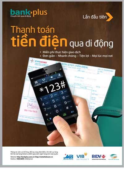 Thanh toán tiền điện chỉ 15 giây với bankplus Viettel
